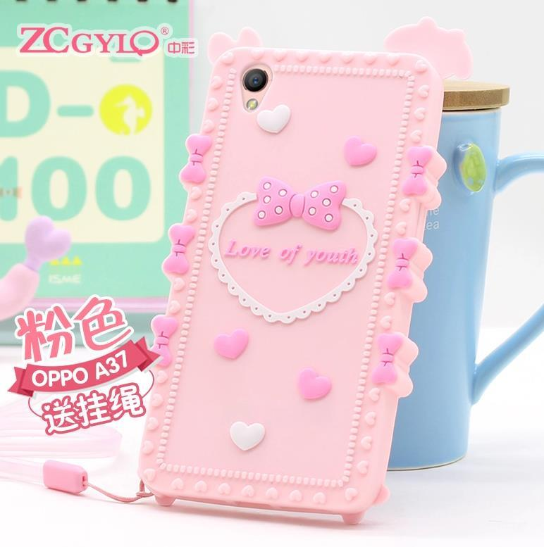 new style df419 5afea OPPO A37 A37M ShakeProof Silicone Case Cover Casing + Gift