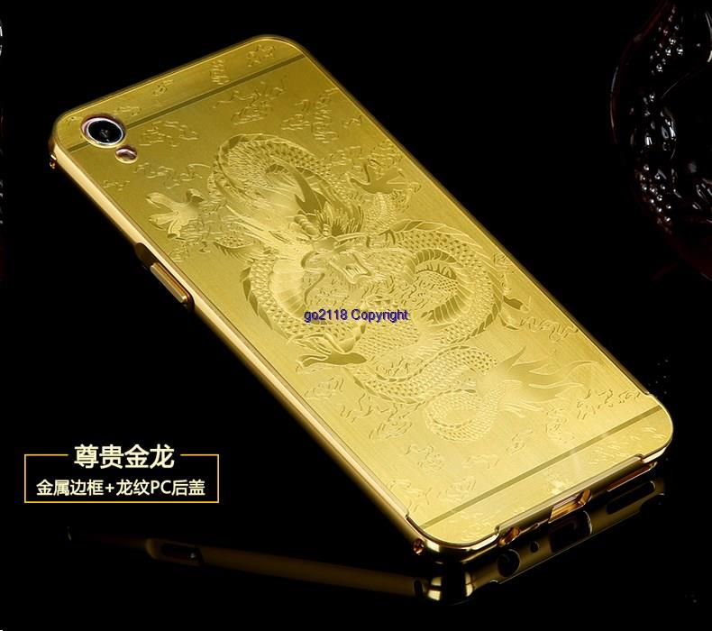size 40 211a3 778b9 Oppo A37 Metal Frame 3D Laser PC Back Cover Case Casing+Tempered Glass