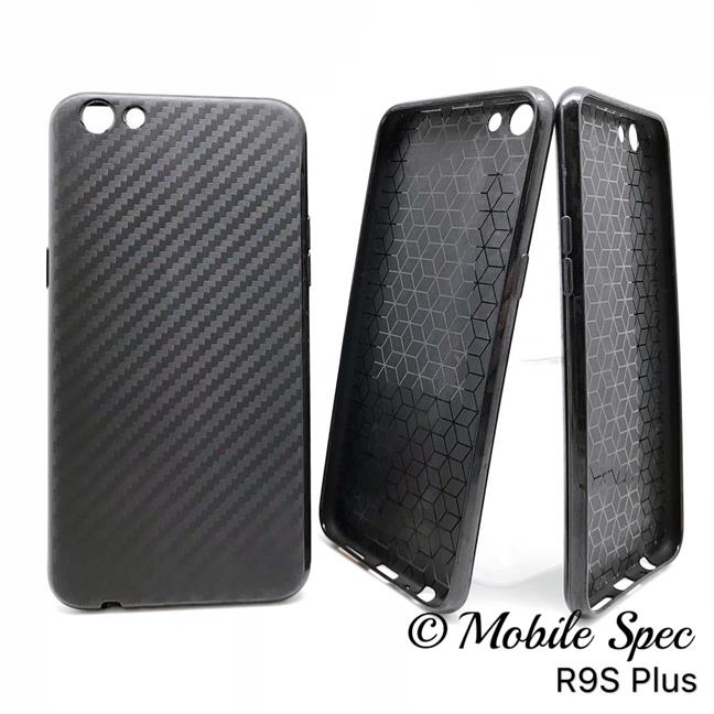 OPPO A37 NEO 9 A57 R9S PLUS BLACK CARBON MATTE SILICONE BACK CASE