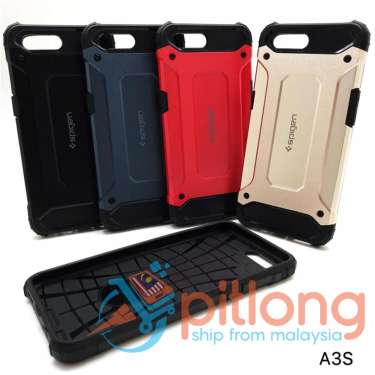 check out 4a1c3 496d3 OPPO A3S / A7 SPIGEN RUGGED ARMOR BACK CASE