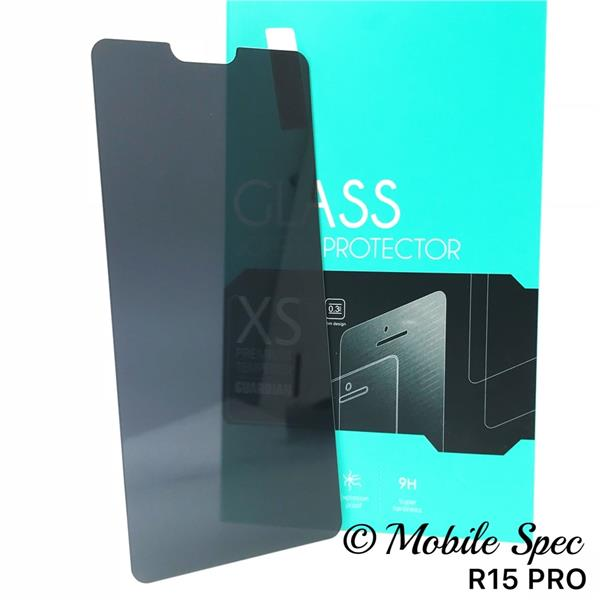 OPPO A3S F7 F9 R15 PRO PRIVACY TEMPERED GLASS SCREEN PROTECTOR