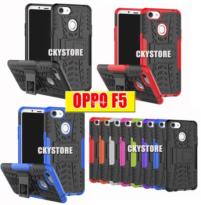 OPPO A3S Realme C1 F5 / F7 Tough ARMOR Standable KICKSTAND Case
