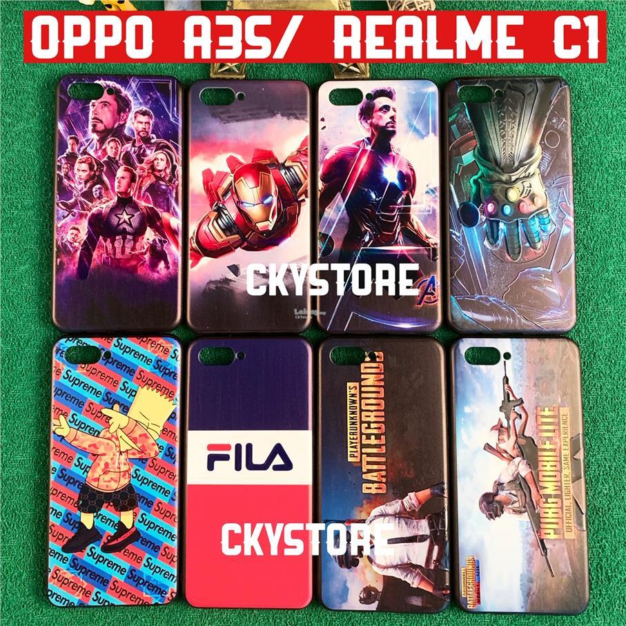 OPPO A3S / Realme C1 Trendy Cartoon Back Case Cover