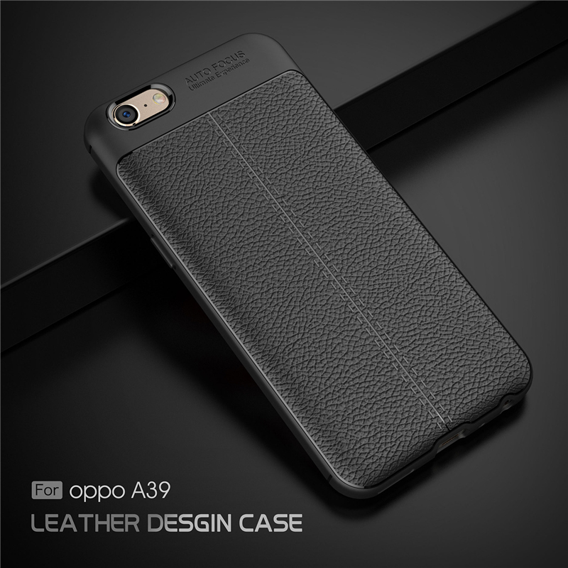 new style 70de3 8bb5f OPPO A57 / A39 Ultra Thin Luxury PU Leather Soft Shockproof Case Cover