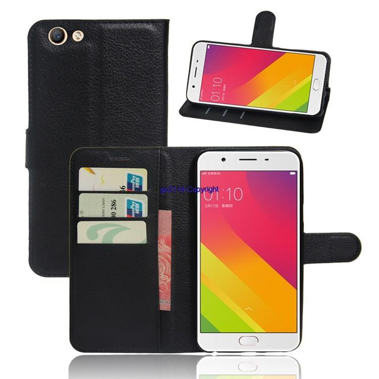 Oppo A59 F1S A59m leather Card Holder Standable Flip Case Cover Casing