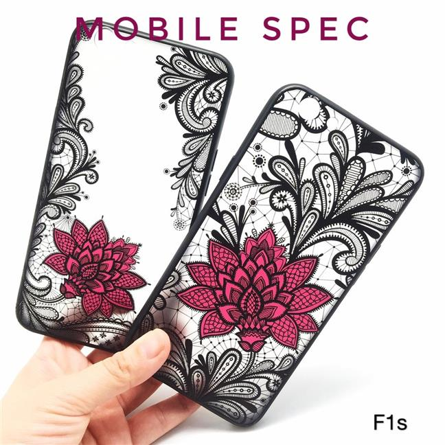 OPPO A59 F1S F5 F7 YOUTH F9 FIND X R15 PRO SEXY BLACK LACE FLOWER CASE