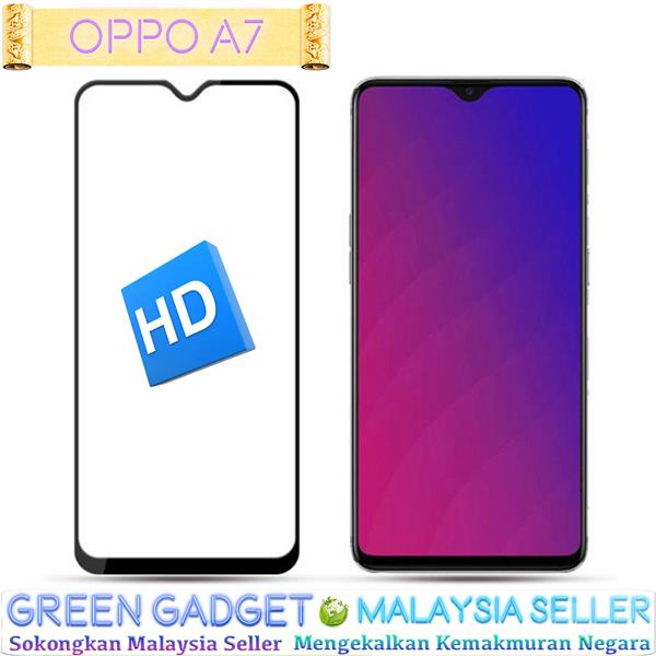OPPO A7 Full Glue Screen Protector Tempered Glass