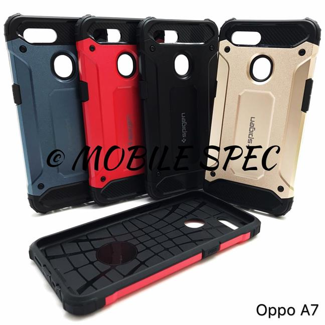 OPPO A7 SPIGEN TOUGH ARMOR PROTECTIVE BACK COVER CASE