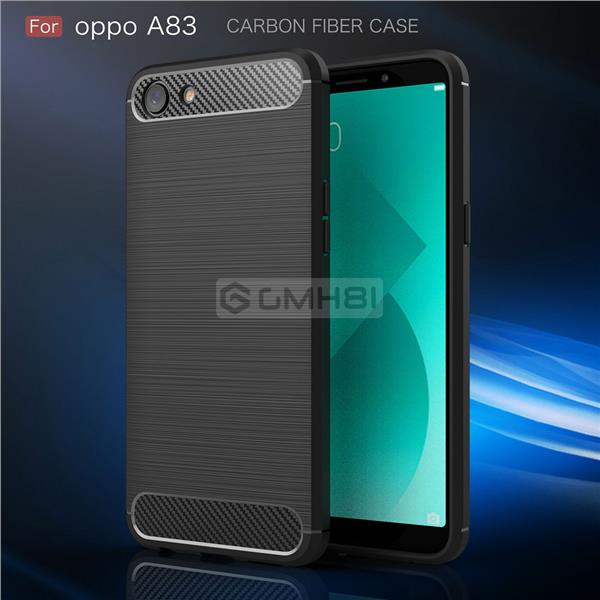 newest collection 8f503 01353 Oppo A83 Rugged Tough Slim Armor Carbon Fiber TPU Bumper Cover Case