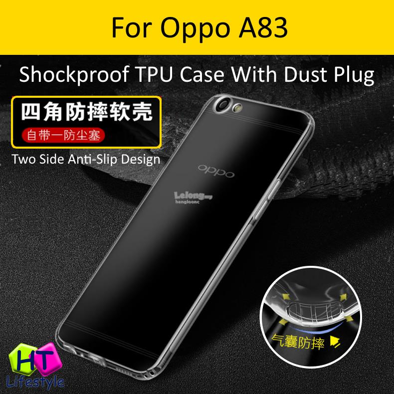 online retailer c2182 4213d Oppo A83 Shockproof Anti-Slip TPU Case w/Dust Plug