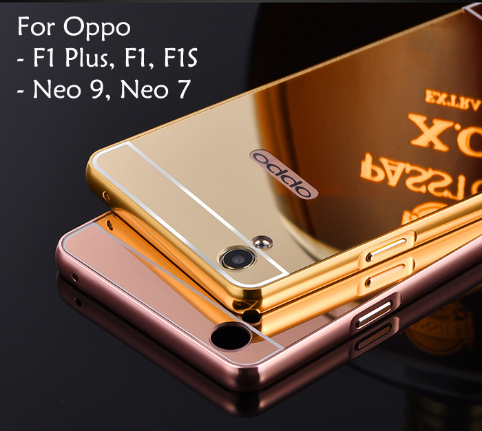 finest selection f73a9 be147 Oppo F1 F1 Plus F1S Neo 7 Neo 9 A37 A37F Mirror Cover Case Casing Hous