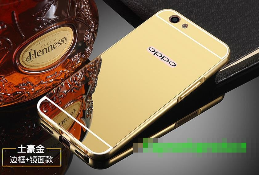 OPPO F1S A59 Mirror Design Metal Frame Bumper Case Cover Casing +Gift