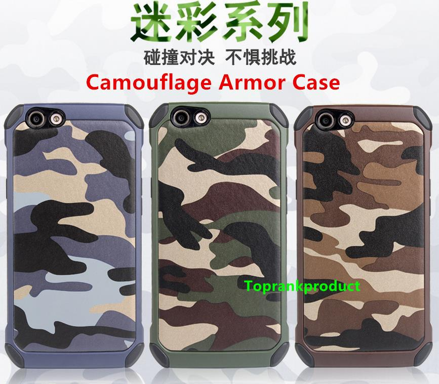 OPPO F1S F1 Plus Camouflage Armor Back Case Cover Casing + Free Gift