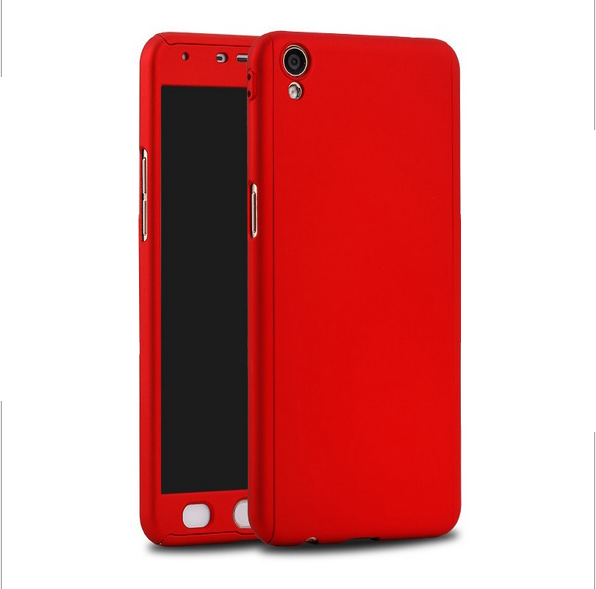 huge discount 51bf3 97b02 Oppo F1S R9S F1 Plus R7 Lite A57 360 Full Cover Case With Tempered Gla