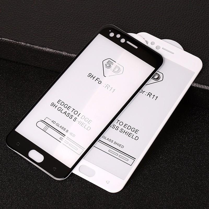 Oppo F5 5D Full Cover 9H Hardness Tempered Glass
