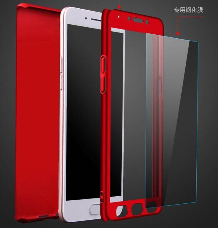 online store 9f96d 97976 Oppo F5 / F7 360 PC Full Protection Tempered Glass Case Cover
