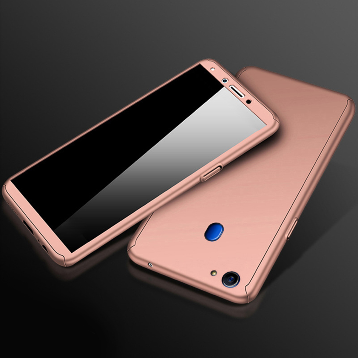 best service 45141 2bb58 Oppo F5 F7 A83 360 Degree Full Cover Case With Tempered Glass