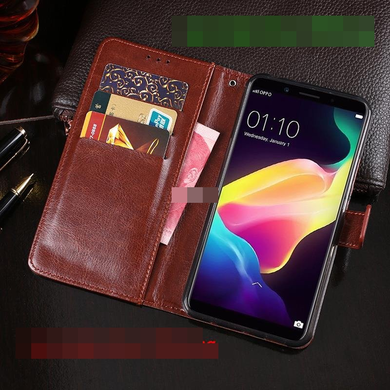 OPPO F5 Flip Card Slot PU Leather Wallet Case Cover Casing