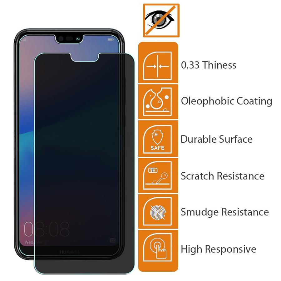 Oppo F7 9H Privacy Anti Peep Tempered Glass