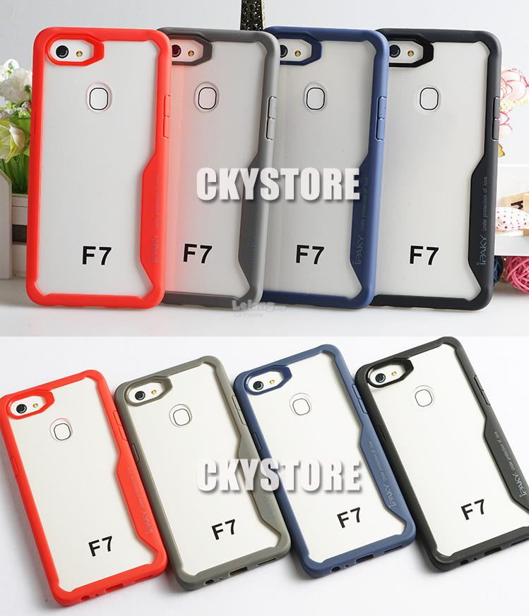 super popular 616f4 ddff3 OPPO F7 NEW Tough Protection Transparent Case