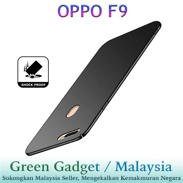 OPPO F9 Case Cover Thin Fit Hard(Black)