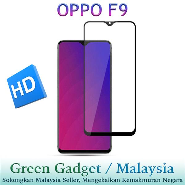 OPPO F9 Full Glue Screen Protector Tempered Glass