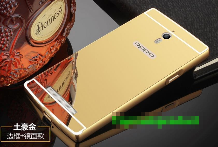 OPPO Find 7 7A X9007 Mirror Metal Frame Case Cover Casing + Free Gift