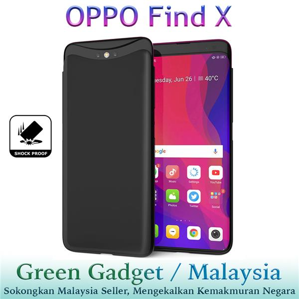 OPPO Find X Case Cover Thin Fit Hard (Black)