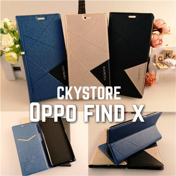 OPPO FIND X Triangle Standable Flip Case Pocket
