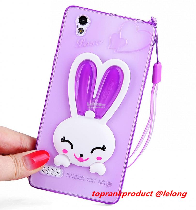 OPPO Mirror 5 5S A51F Soft TPU Rabbit Back Case Cover Casing
