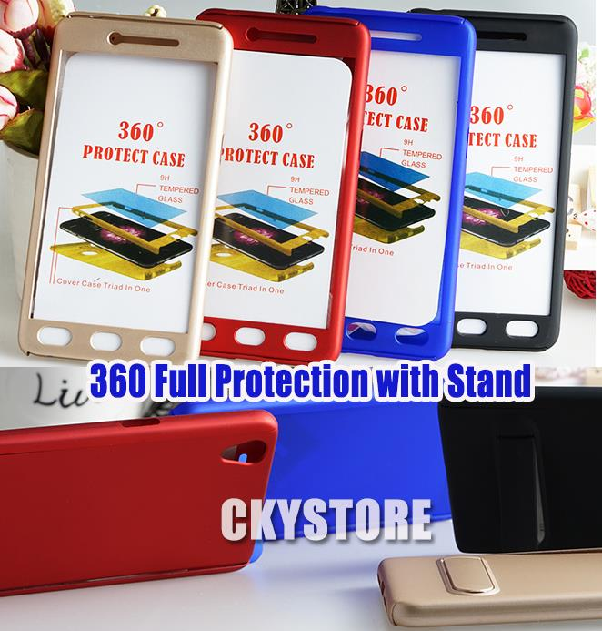 newest 367cf b3f24 OPPO Neo 9 A37 360 Full Protection Tempered Glass Stand Case