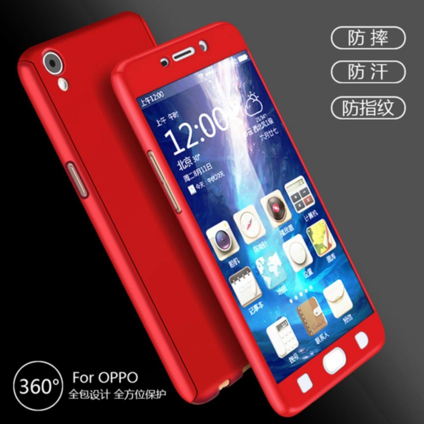 on sale cb196 39d86 Oppo Neo 9 A37 A77 Neo 7 R7S 360 Full Cover Case With Tempered Glass