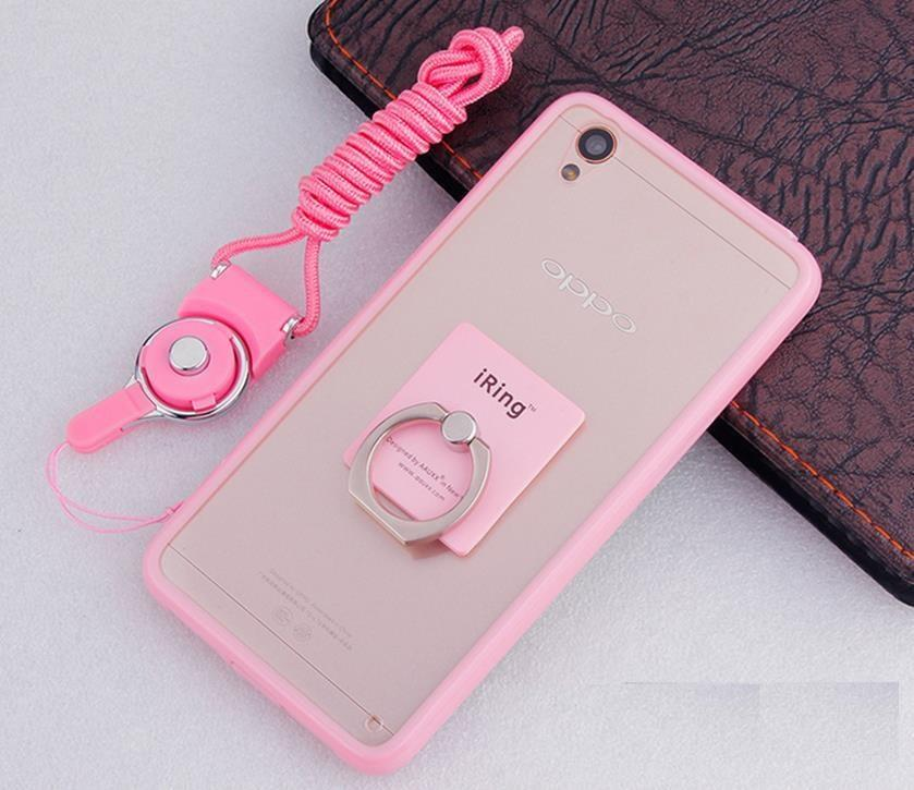 OPPO Neo 9 A37 Silicone Bumper Case Cover Casing + Ring Holder