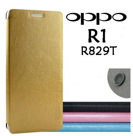 save off a8d2c bcc6d Oppo R1 R829T Flip Cover Leather Pouch Protective Case Bag Casing