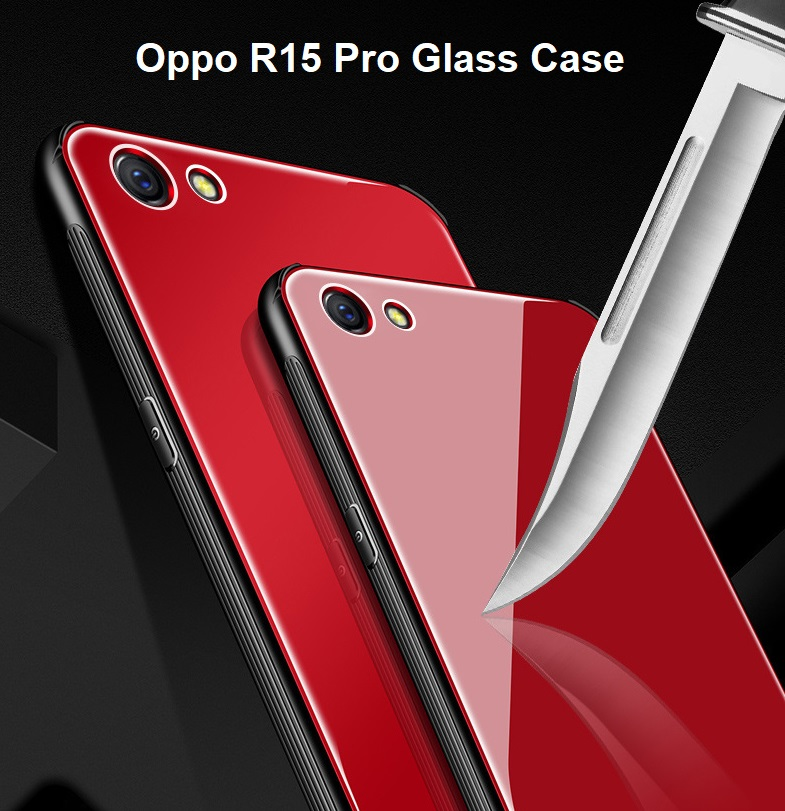 wholesale dealer 0e70e 78ac3 Oppo R15 Pro Full Cover Tempered Glass Phone Case Bumper Cover