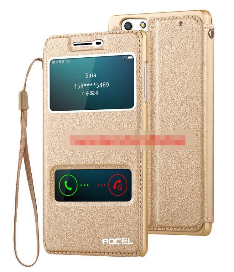 OPPO R1L R1S R8006 Flip PU Leather Stand Case Cover Casing + Gift