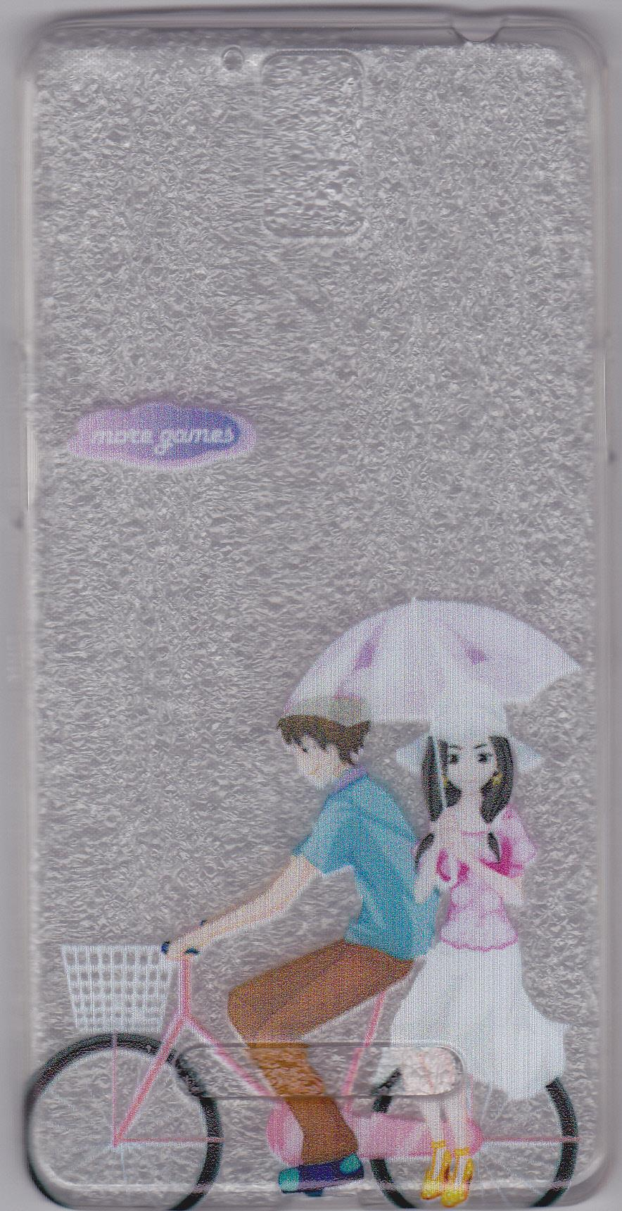 OPPO R3 / R7007 / R3S PICTURE SOFT HANDPHONE CASE-COUPLE 1