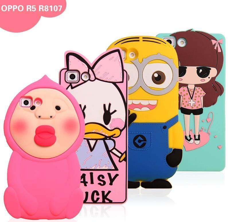 OPPO R5 Cartoon Design Silicone SharkProof Case Cover Casing
