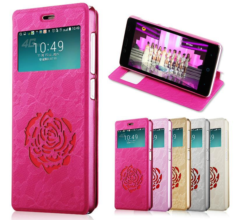 OPPO R5 Rose Series Flip Case Cover + Free Screen Protector