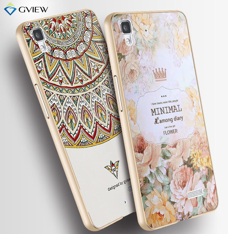 timeless design 0b1e1 3a0c2 OPPO R7 / Lite 3D Relief & Metal Frame Case Cover Casing + Free Gifts
