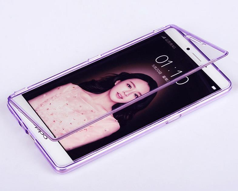 competitive price bf88d 30e81 OPPO R7 Lite /R7 Plus Transparent Flip Case Cover Casing + Free Gift