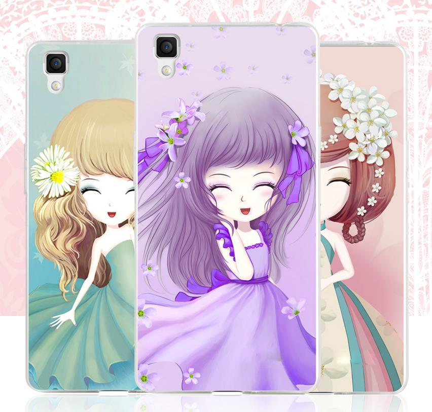 OPPO R7S R7 Lite Plus 3D Relief Silicone Case Cover Casing +Free Gift