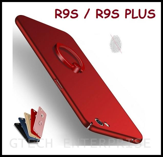best service 675da 8833e OPPO R9 R9S Plus Slim 360 Full Protect Back Cover Case with Ring