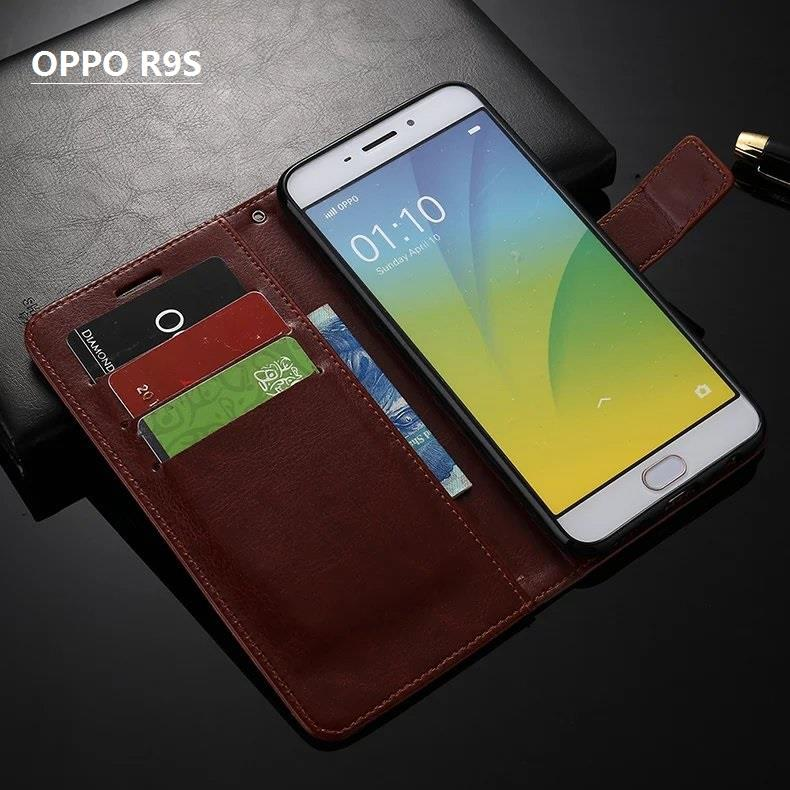 buy online 3514d 9561d OPPO R9S flip cover case phone casing_crazy horse PU