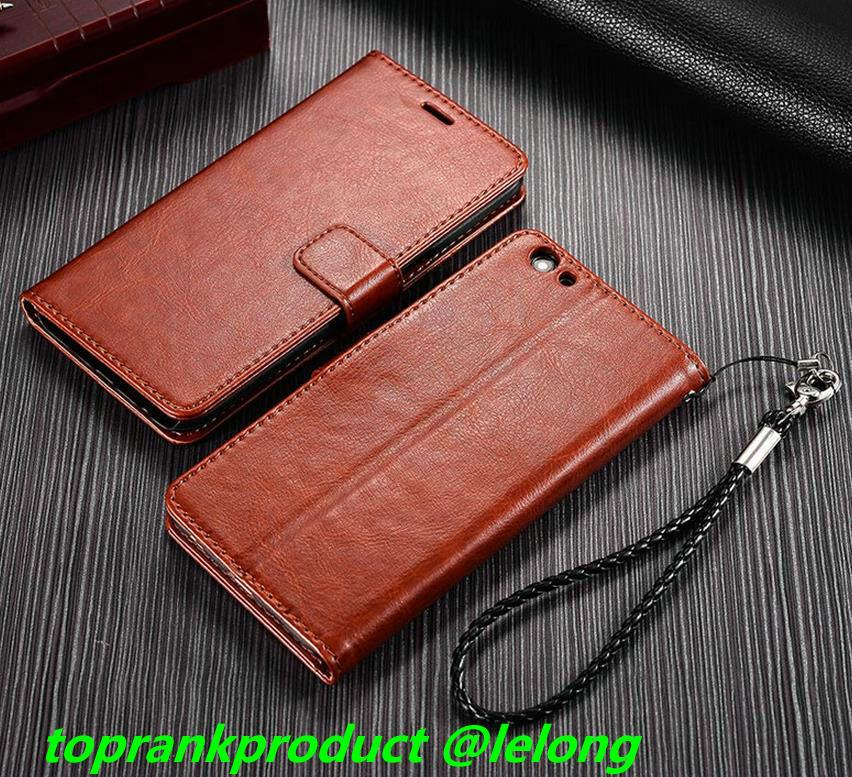 OPPO R9S / Plus Flip Card Slot PU Leather Case Cover Casing + Gift