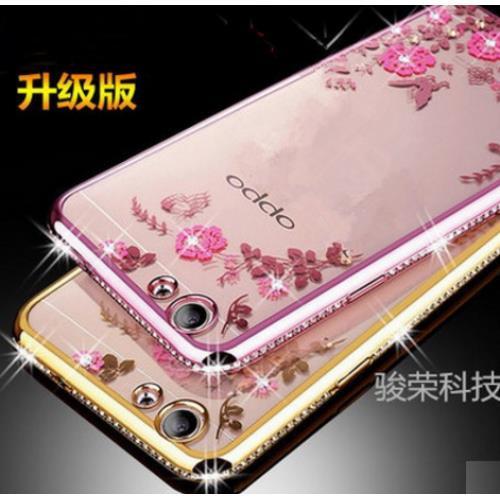 Oppo R9S Plus Secret Garden Flower Diamond TPU Case Soft Bumper Cover