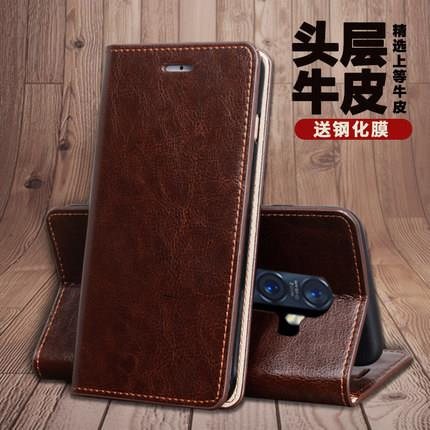 Oppo Reno 2 Cowhide Real Genuine Leather Wallet Full Case Casing Cover