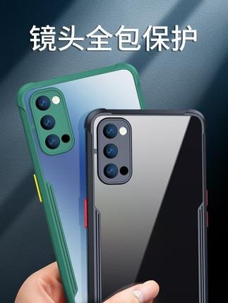 Oppo Reno 4/PRO transparent phone protection case casing cover silicon