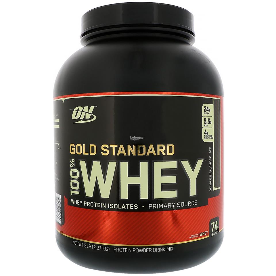 Optimum Nutrition On Gold Standard 100% Whey 5 Lbs - Muscle Protein
