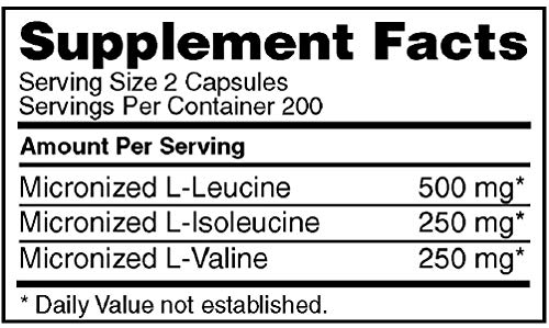 Optimum Nutrition Instantized BCAA Capsules, Keto Friendly Branched Chain Esse
